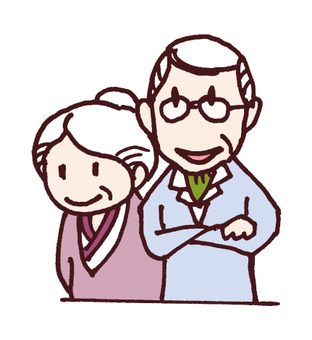 Family illustration _ grandparents