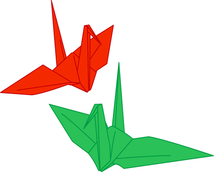 Folding crane _ red _ green