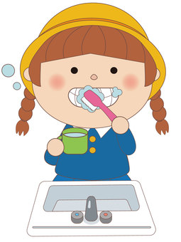 Toothpaste child