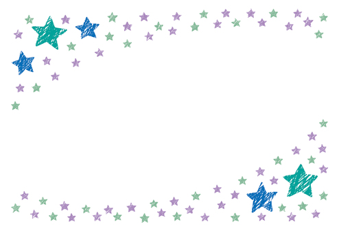 Crayon style star frame 3