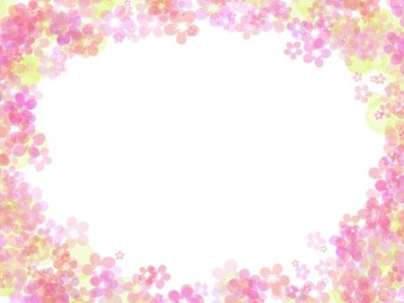 Sakura frame watercolor