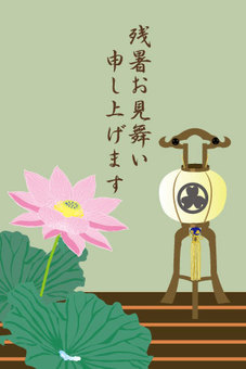 Lotus summer heat of lantern lotus flowers