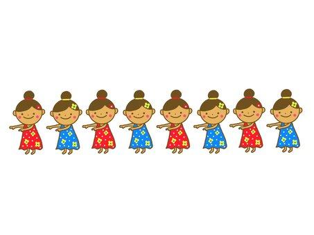 Hula dance with everyone ♪