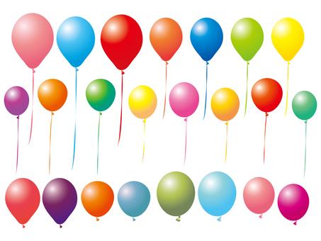 Balloon set balloon set colorful illustration