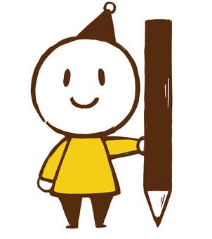 A dwarf with a pencil