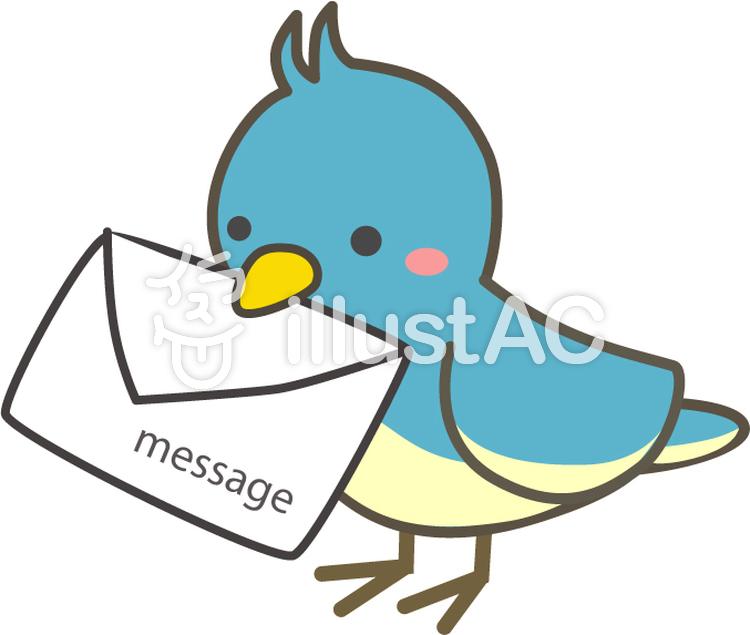 小鳥さんからお手紙ですイラスト No 94773無料イラストなら
