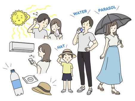 Summer / heatstroke measures colored ver.