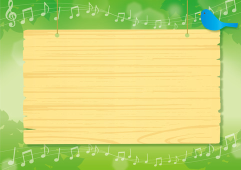 Musical note and sign
