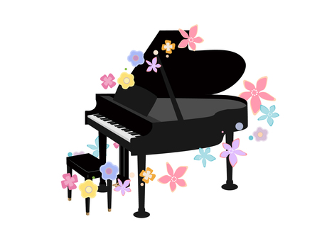 피아노와 꽃
