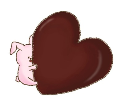 Heart chocolate and rabbits