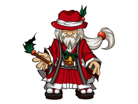 Japanese style Santa Grandpa