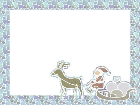 Mosaic Santa's frame