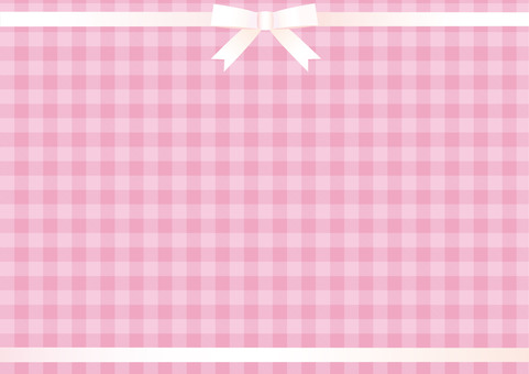 Pastel pink gingham (white ribbon up and down)