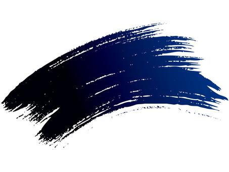 Brush line (curve · blue → ink)