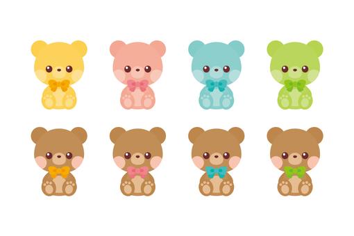 Kuma-chan Plush Toy Set