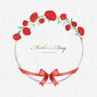 Spring Background Frame 068 Wreath Mother's Day