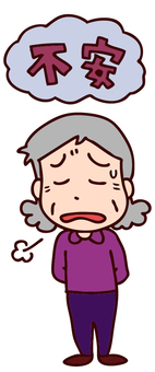 Illustration of middle-aged women with anxiety