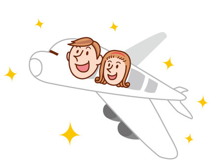 人物/カップル/飛行機