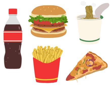 Burger / carbonated / ramen / pizza * no main wire