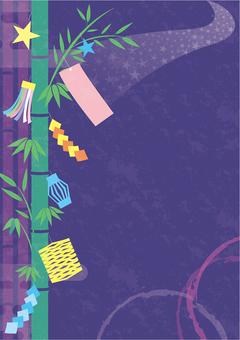 Tanabata Japanese style background frame