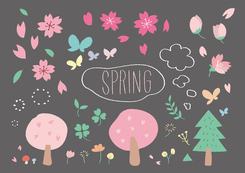 Spring hand-painted illustration