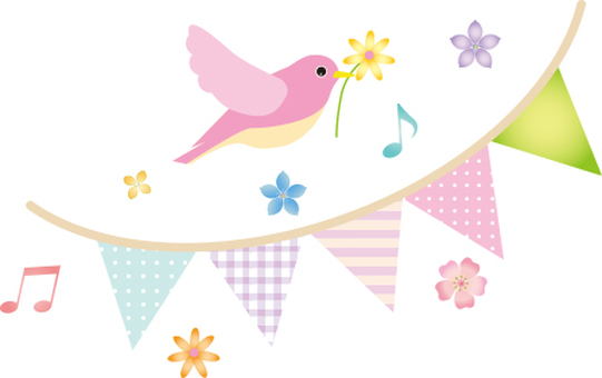 Birds and Flower Flag