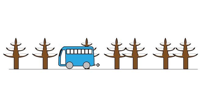 Winter bus tour