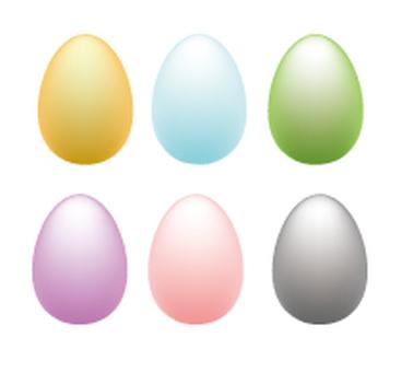 6color eggs