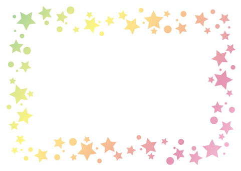 Small star frame background 02