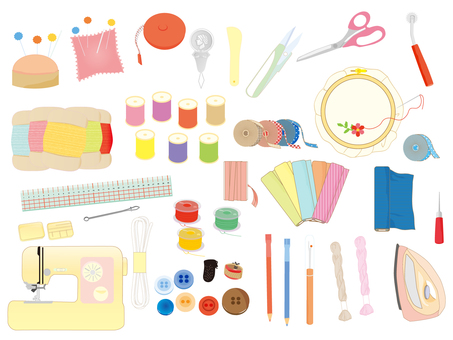 Various sewing sets