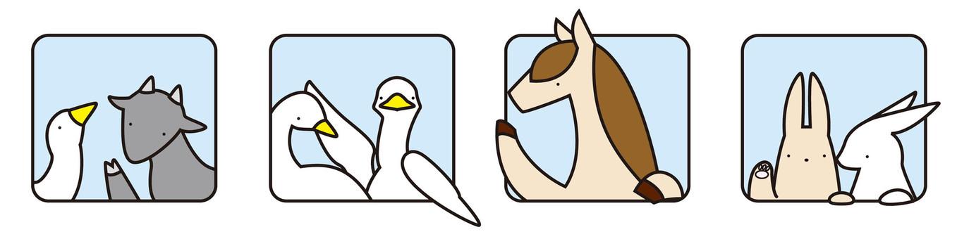 창문에서 동물