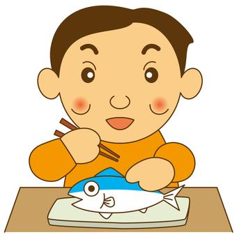 Men who eat fish