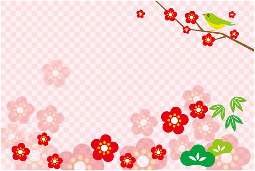 Shochiku's greeting card background