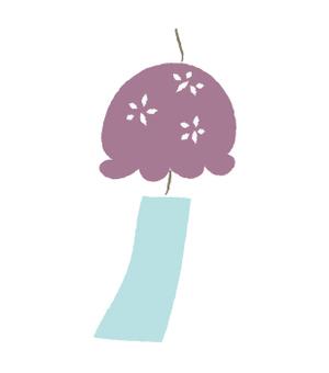 Wind chime - purple