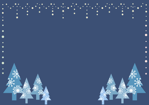 Star garland snowflakes forest