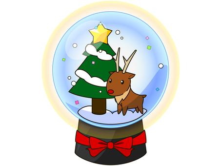 Snow globe 2 (reindeer
