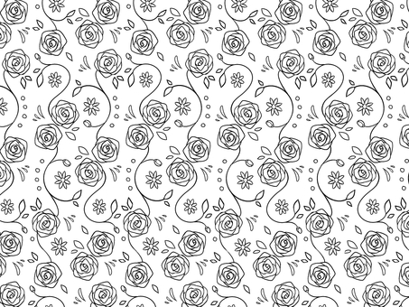 Natural wallpaper 20 rose monochrome