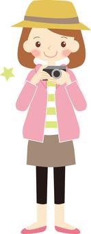 카메라 여자