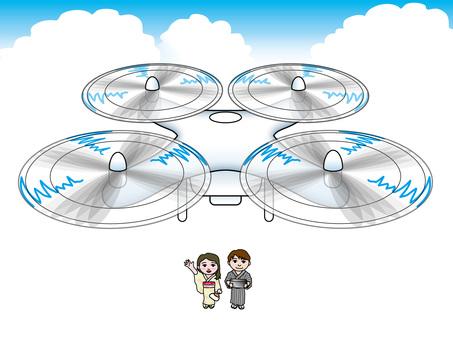 Yukata couple steering drone (2)