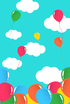Sky background with balloons