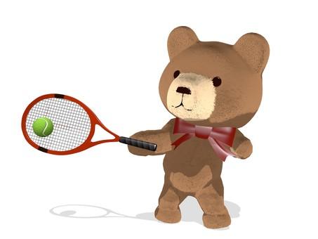 Teddy bear · tennis · forehand