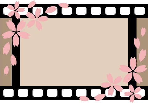 Film frame <Horizontal / Sakura>