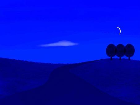 Quiet night scenery