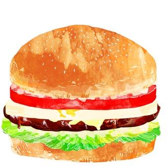 Hamburger · Teriyaki egg