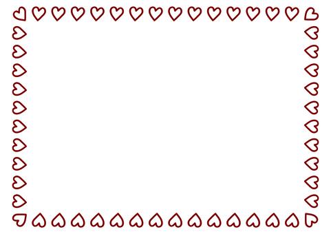 Square square heart frame 5