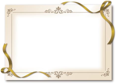 Frame luxury ribbon gold