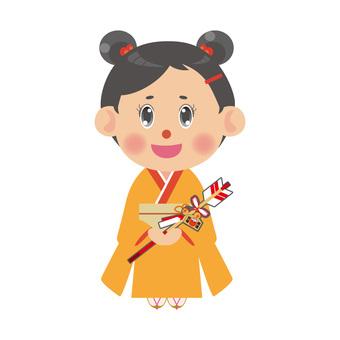 Kimono women with evil arrows (goddess)