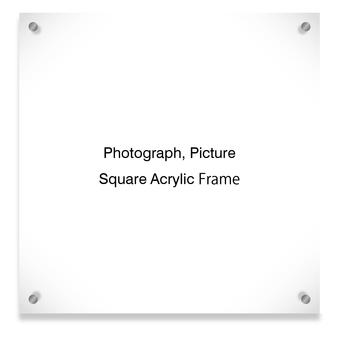Square acrylic frame