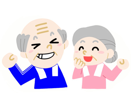 Elderly couple healthy