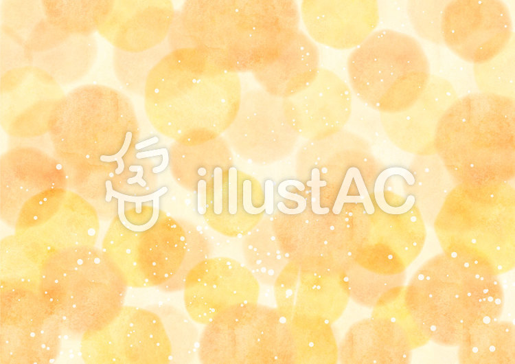 背景素材019 黄色い水玉のイラスト